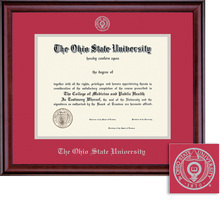 Framing Success Classic Embossed Double Matted Diploma Frame in a Burnished Cherry Finish
