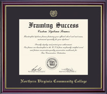 Framing Success Windsor Diploma Frame In HighGloss Cherry Finish & Gold Trim