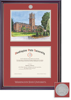 Framing Success Jefferson Medallion Double Matted with Litho Diploma Frame. Bachelors, Masters