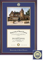 Framing Success Windsor DiplomaPhoto Double Matted Diploma Frame in Gloss Cherry Finish