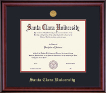 Framing Success Classic Medallion Diploma Frame Double Matted in Burnished Cherry Finish