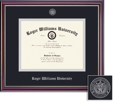 Framing Success Jefferson Double Matted Diploma Frame with a High Gloss Cherry Finish
