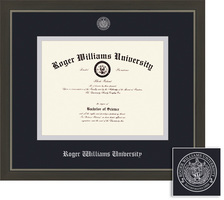 Framing Success Metro Metal Single Matted Diploma Framein a Modern Slate Gray Pewter Finish
