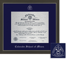 Framing Success Metro Metal Single Matted Diploma Framein a Modern Slate Gray with a Pewter Finish