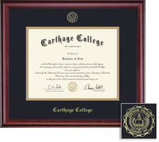 framing success classic double matted diploma tassel frame in burnished cherry finish - Diploma Tassel Frame