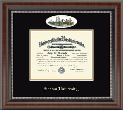 Church Hill Classics Campus Cameo Diploma Frame Bachelors, Masters, Ph.D.