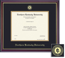 Framing Success Windsor PhD Diploma Frame Dble Matted in Gloss Cherry Finish, Gold Trim