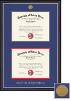 Prestige Double Diploma (0812Present) with Medallion and Black and Red Double Mat