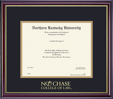 Framing Success Windsor Law Diploma Frame, in Gloss Cherry Finish, Gold Trim