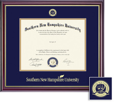 Framing Success Windsor BA and MA Diploma Frame Gloss Cherry Finish, Gold Trim