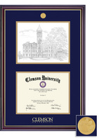 Framing Success Windsor Litho Diploma Frame, in a Gloss Cherry Finish, Gold Trim