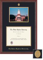 Framing Success Grandeur Diploma Photo Frame with Mahogany Finish and Carved Inner Border