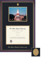 Framing Success Windsor Diploma Photo Frame Gloss Cherry Finish, Gold Trim