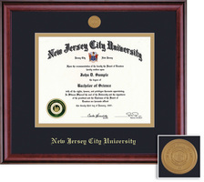 Framing Success Classic Medallion Diploma Frame, Double Matted in Burnished Cherry Finish