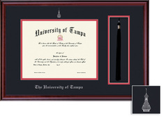 Framing Success Classic Diploma & Tassel Frame. Double Matted in Burnished Cherry Finish