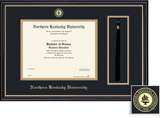 Northern Kentucky University Diploma and Tassel Window with Black and GoldDouble Mat in Prestige