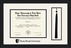 Framing Success Diploma Frame with Tassel, Double Mat in a Contemporary Black Matte Finish