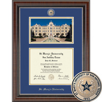 Church Hill Classics Campus Scene Diploma Frame.  Bachelors & Masters