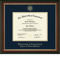 Church Hill Classics Embossed Murano Diploma Frame. Dental Medicine. PhD