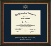 Church Hill Classics Embossed Murano Diploma Frame. Medicine. PhD
