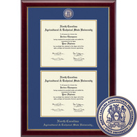 Church Hill Classics Double Diploma Frame. Bachelors, Masters (Online Only)