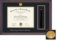 Framing Success Windsor Diploma Frame in Gloss Cherry Finish and Gold Trim. Bachelors
