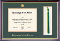 Framing Success Windsor Diploma & Tassel Frame in Gloss Cherry Finish and Gold Trim. Bachelors