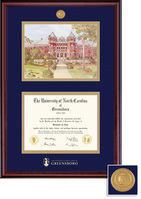 Framing Success Classic Double Matted Diploma Frame in a Burnished Cherry Finish, Bachelors