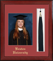 Framing Success Keepsake PhotoTassel Single Red Mat In Burnished Cherry Finish