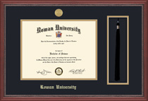 Framing Success Diploma Frame & Tassel with Mahogany Finish and Carved Inner Border