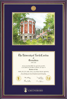 Framing Success Windsor Diploma Frame in Gloss Cherry Finish and Gold Trim, Masters