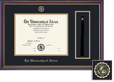 Framing Success Windsor Diploma Frame Dbl Matted, Gloss Cherry Finish, Gold Trim. Bachelors, Masters