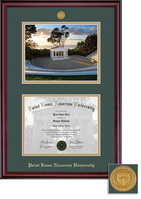 Framing Success Classic Medallion Diploma & Photo Double Matted Diploma Frame