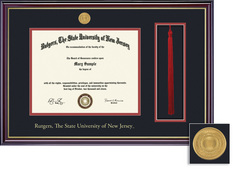Framing Success Windsor Medallion DiplomaTassel 8.5x11 Double Matted Diploma Frame