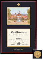 Framing Success Classic MA Diploma & Litho  Double Matted Diploma Frame in a Burnished Cherry Finish