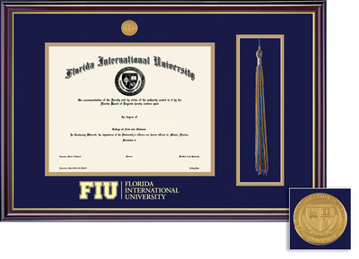Framing Success FIU Masters And Phd Windsor Tassel Degree Frame