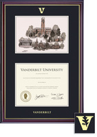 Framing Success Windsor Diploma Frame in Gloss Cherry Finish and Gold Trim. Bachelors or Masters