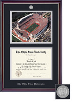 Framing Success Jefferson Medallion Diploma Frame & Photo Double Matted in a Gloss Cherry Finish
