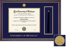Framing Success Windsor Medallion Double Matted Diploma Frame with Tassel Cut Out