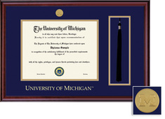 Framing Success Classic Medallion Double Matted Diploma Frame Tassel Cut Out
