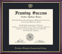 Framing Success Academic Diploma Frame in HighGloss Cherry Finish and Gold Trim & Slim Contour