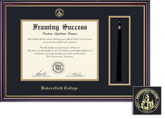 Framing Success Windsor DiplomaTassel Double Matted in Gloss Cherry Finish