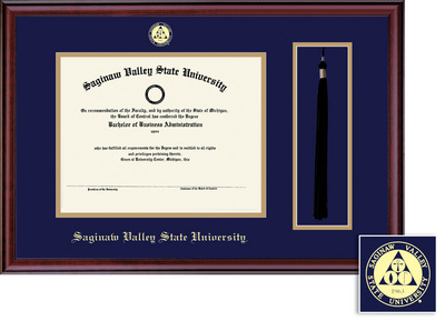Framing Success Classic DiplomaTassel Double Matted Diploma Frame in Burnished Cherry Finish