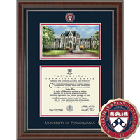 Church Hill Classics Campus Scene Diploma Frame. Associates, Bachelors, Masters, or Ph.D.