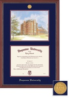 Framing Success Grandeur Doctorate Diploma Frame and Litho with Mahogany Finish