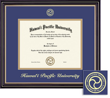 Framing Success Prestige BAMA Diploma Frame Double Matted in Satin Black Finish, Gold Trim