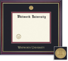 Framing Success Windsor Medallion Diploma Frame, Double Matted in Gloss Cherry Finish,Gold Trim