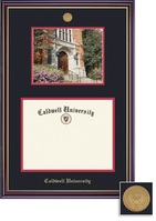Framing Success Windsor PhD DiplomaPhoto Mdl Frame, Double Matted in Gloss Cherry Finish, Gld Trim