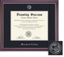 Framing Success Jefferson Diploma Frame, Double Matted in Gloss Cherry Finish, Silver Trim