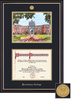 Framing Success Prestige DiplomaLitho Mdl Frame,Double Matted in Satin Black Finish, Gold Trim